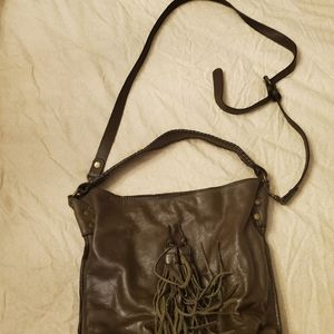 Patricia Nash Olive leather crossbody bag